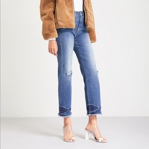 Good American Good Straight Fray High Rise Jeans